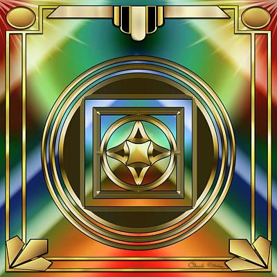 Digital Art - Art Deco 37 - Chuck Staley by Chuck Staley