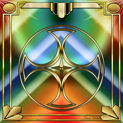 Digital Art - Art Deco 38 by Chuck Staley