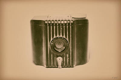 Photograph - Art Deco Baby Brownie Tan Camera by Tony Grider