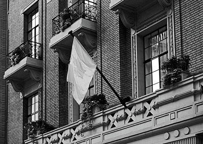 Photograph - Art Deco Balconies Bw by Connie Fox
