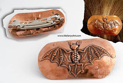 Jewelry - Art Deco Bat Hair Barrette by Melany Sarafis