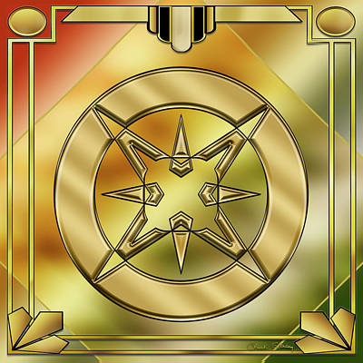 Digital Art - Art Deco Brass 1 by Chuck Staley