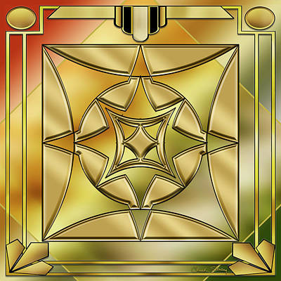 Digital Art - Art Deco Brass 2 by Chuck Staley