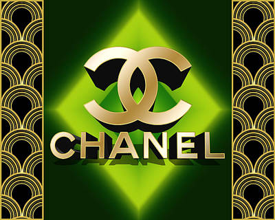 Digital Art - Art Deco Chanel 3 D by Chuck Staley