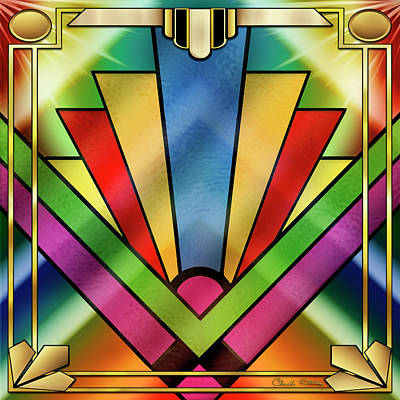 Digital Art - Art Deco Chevron 4 by Chuck Staley