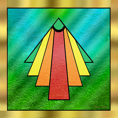 Digital Art - Art Deco Christmas Tree by Chuck Staley
