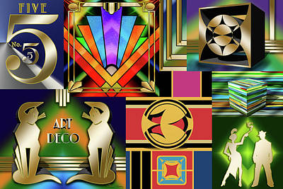 Digital Art - Art Deco Collage 1 by Chuck Staley