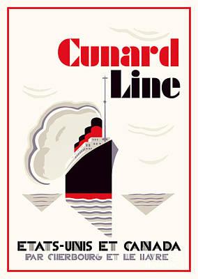 Impressionist Landscapes - Art deco Cunard Line by Heidi De Leeuw