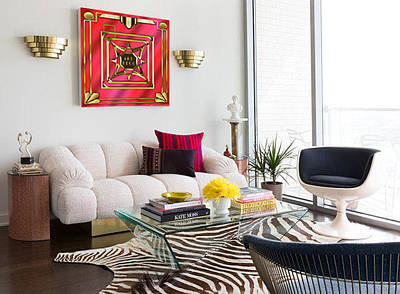 Digital Art - Art Deco Design 2020 B Canvas by Chuck Staley
