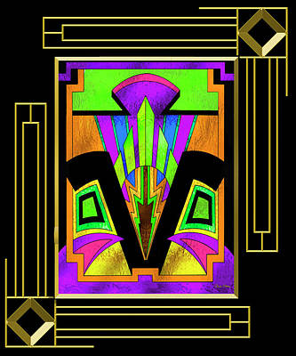 Digital Art - Art Deco - Design 5 B Mat by Chuck Staley