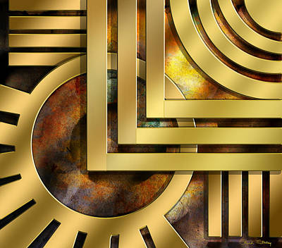 Digital Art - Art Deco Design 1 by Chuck Staley