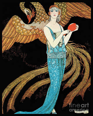 Art Deco Era Fashion Illustration Art Print by Tina Lavoie