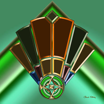 Digital Art - Art Deco Fan 11 by Chuck Staley
