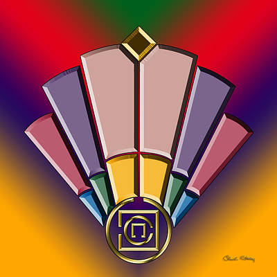 Digital Art - Art Deco Fan 13 by Chuck Staley