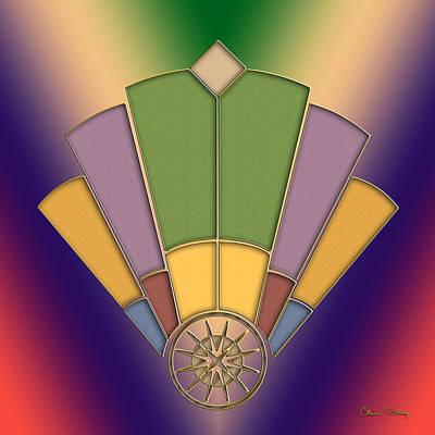 Digital Art - Art Deco Fan 2 by Chuck Staley