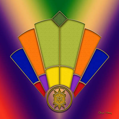 Digital Art - Art Deco Fan 6 by Chuck Staley