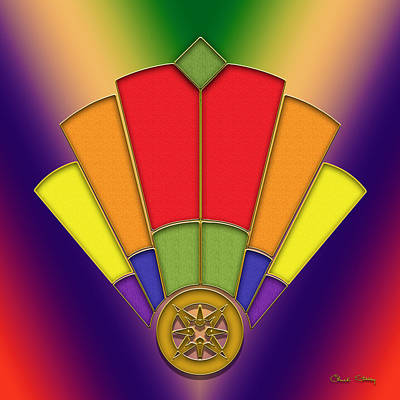 Digital Art - Art Deco Fan 7 by Chuck Staley