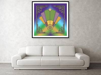 Digital Art - Art Deco Fan 2 Framed by Chuck Staley