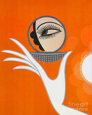 Mirror Art Painting - Art Deco Fashion Illustration by Tina Lavoie
