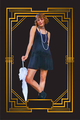Digital Art - Art Deco Flapper by John Haldane