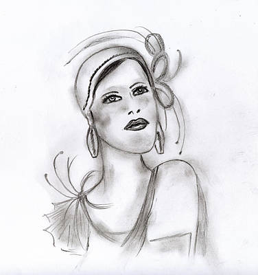 Drawing - Art Deco Girl by Sonya Chalmers