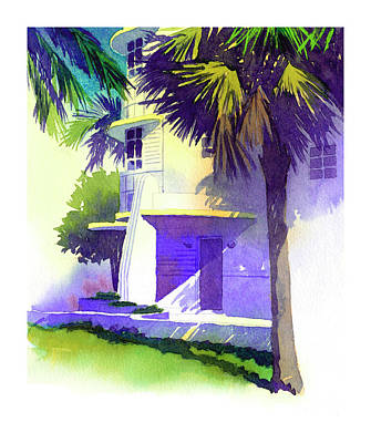 Art Deco Hotel Miami Art Print