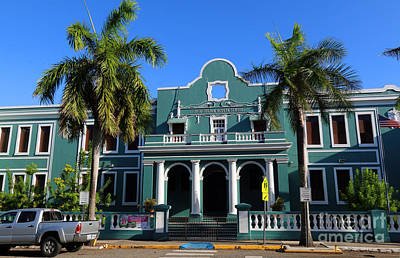 Photograph - Art Deco Jose Julian Acosta School In Old San Juan by Steven Spak