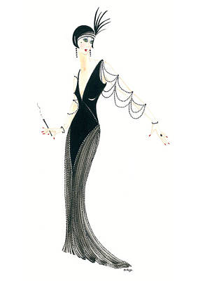 Painting - Art Deco Lady - Josephine by Di Kaye