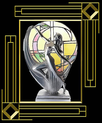 Digital Art - Art Deco Lamp - Frame 5 by Chuck Staley