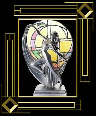 Digital Art - Art Deco Lamp - Frame 5 by Chuck Staley