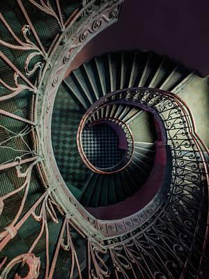 Photograph - Art Deco Metal Spiral Staircase by Jaroslaw Blaminsky