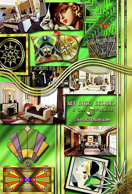Digital Art - Art Deco Mood Board by Chuck Staley