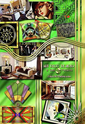 Digital Art - Art Deco Mood Board by Chuck Staley