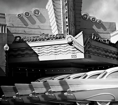 Digital Art - Art Deco Movie Theatre And Chevrolet Belair by Larry Butterworth