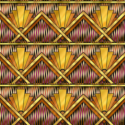Digital Art - Art Deco Multiview 12 by Chuck Staley