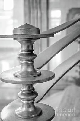 Photograph - Art Deco Newel Post Lakefront Airport Nola-bw by Kathleen K Parker