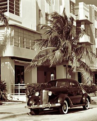 Art Deco Ocean Boulevard Miami Beach Florida Art Print by George Oze