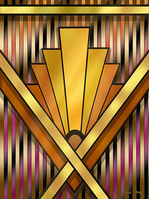 Digital Art - Art Deco 12v by Chuck Staley