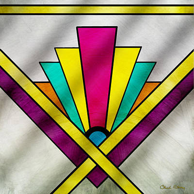 Drawing - Art Deco Pattern 9 by Chuck Staley