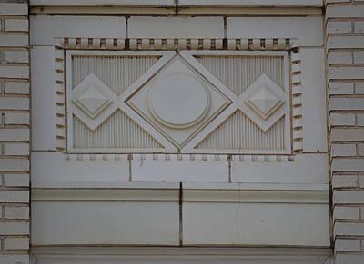 Photograph - Art Deco Plaque - The Times Building Huntsville Alabama by rd Erickson