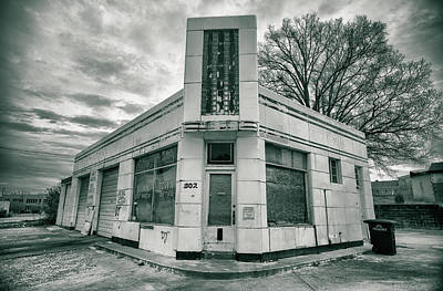 Photograph - Art Deco Service Station Of Old by Lynne Jenkins