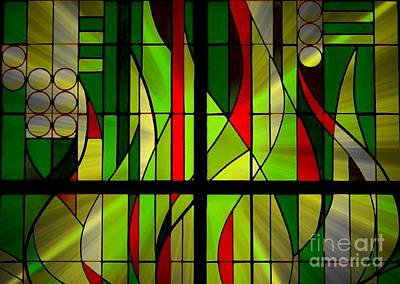 Photograph - Art Deco Stained Glass by Jenny Revitz Soper