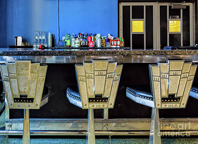 Photograph - Art Deco Stools - Lakefront Airport New Orleans by Kathleen K Parker