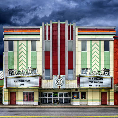 Photograph - Art Deco Theater Panama City Fl Dsc09990_16 by Greg Kluempers
