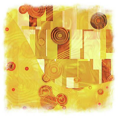 Playful Digital Art - Art Deco Yellow by Lutz Baar