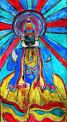 Kathakali Dancer Painting - Art Form by Vineeth Menon