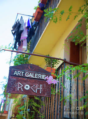 Photograph - Art Galerie France Sign  by Chuck Kuhn