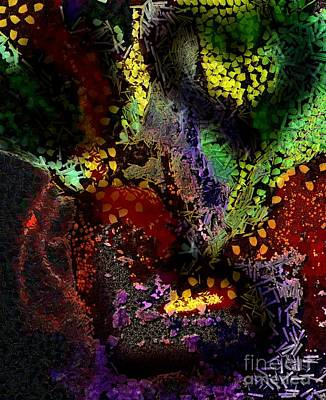 Recondite Digital Art - Art Hearted On Your Wall Again Abstract by Catherine Lott