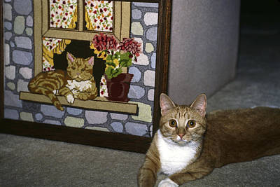 Art Print featuring the photograph Art Imitates Life by Sally Weigand