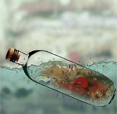 Digital Art - Art In A Bottle by Jan Steadman-Jackson